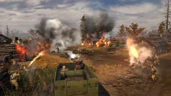 Tank battle in Company of Heroes 2