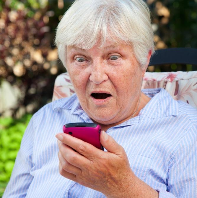 elderly smartphone