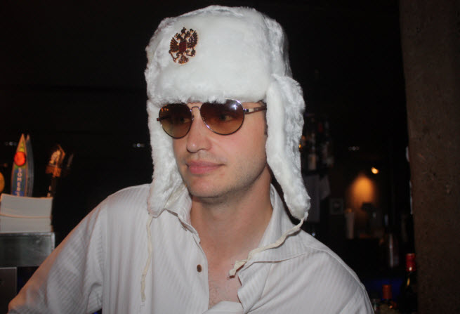 John Vechey of PopCap Games at a party in 2012.
