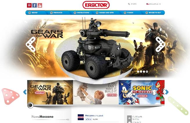 Gears of War Meccano website