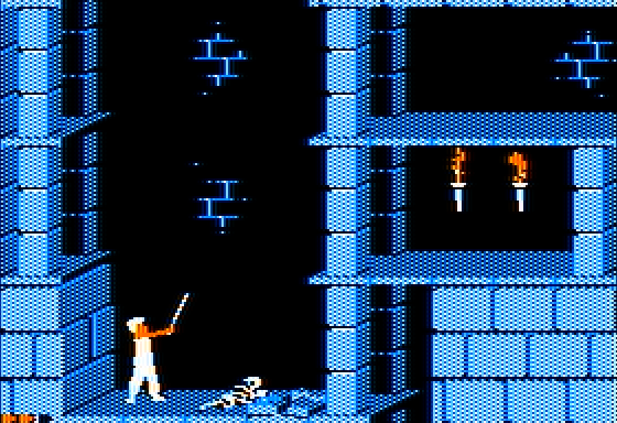 Prince of Persia on the Apple II.