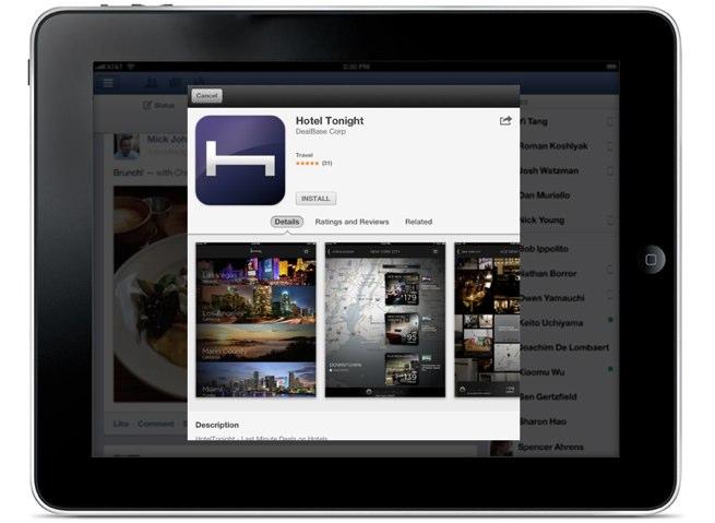 facebook app install ad ios