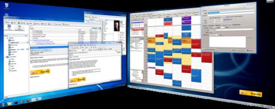 Kolab works on Windows, Mac, or Linux.