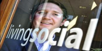 LivingSocial's business is in the toilet, and its CEO flushes out