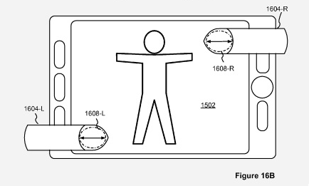 Patent drawing of Apple's pinch to zoom patent