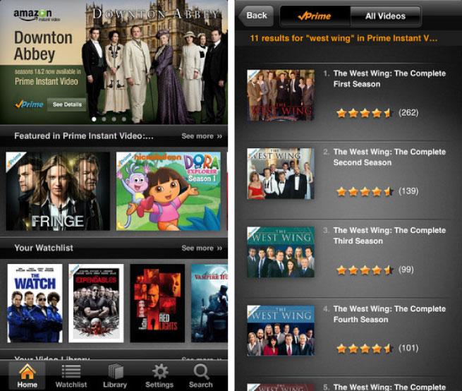 Amazon Prime, iPhone App