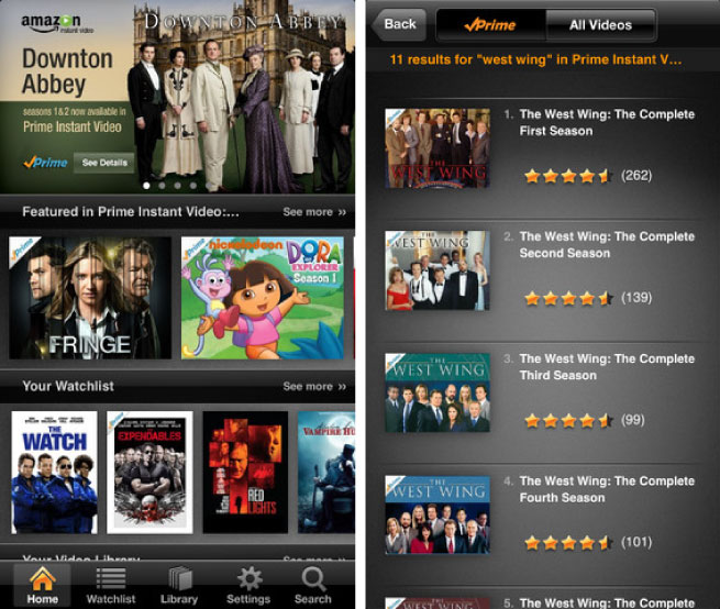 Amazon Prime Instant Video app finally arrives on the iPhone