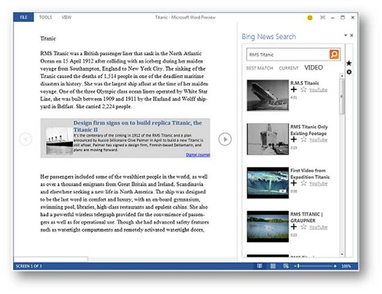 Bing News Search for Office