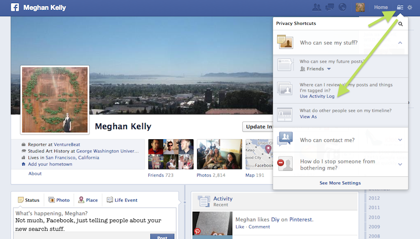 Facebook Profile Page 2013 - More information