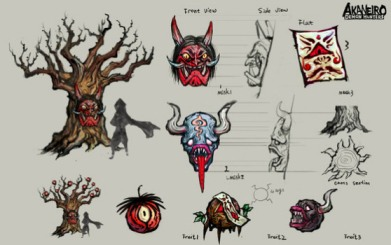 Akaneiro: Demon Hunters concept