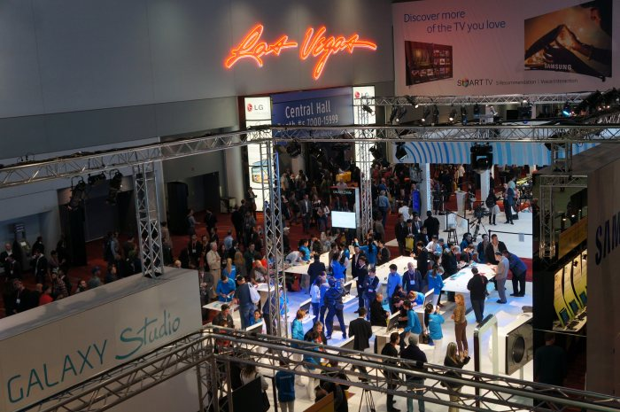 The crowd at CES 2013.
