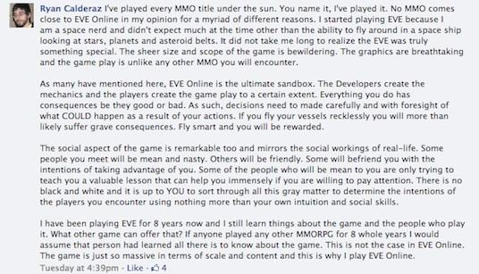GamesBeat Eve Online response 1