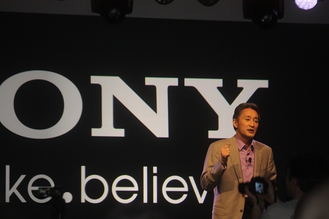 """When Sony engineers brought out the new 55-inch OLED TV, it crash and displayed a blue screen. Sony CEO Kaz Hirai said, """"Excellent,"""" in his best sarcastic voice."""