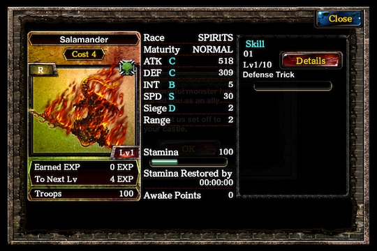 Kingdom Conquest II salamander card