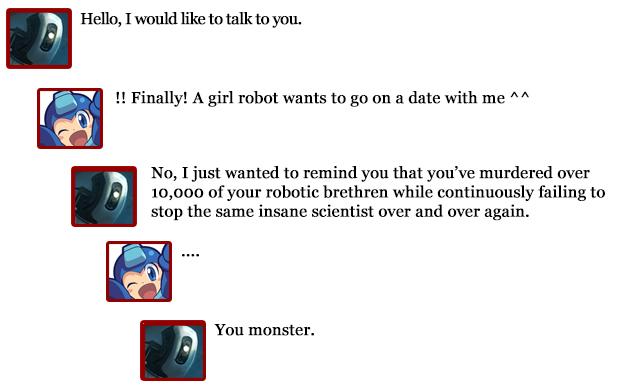 Extra Hearts: Mega Man -- Glados comments