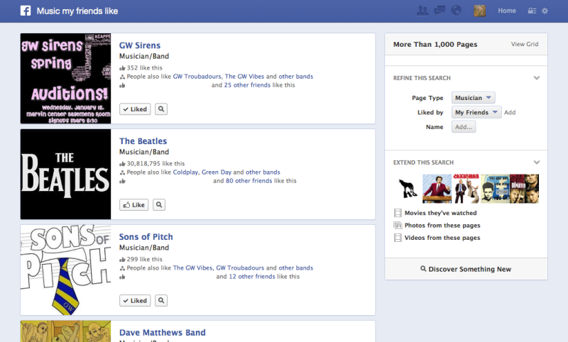 Hands On: Facebook's Graph Search is handy, for now | VentureBeat