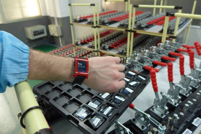 pebble smartwatch factory