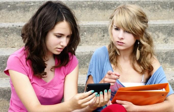 Teens with smartphones