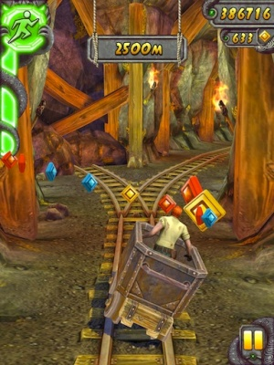Temple Run 2 minecart