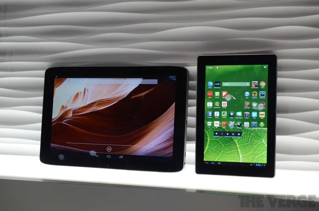 vizio 10 inch 7inch Android tablets
