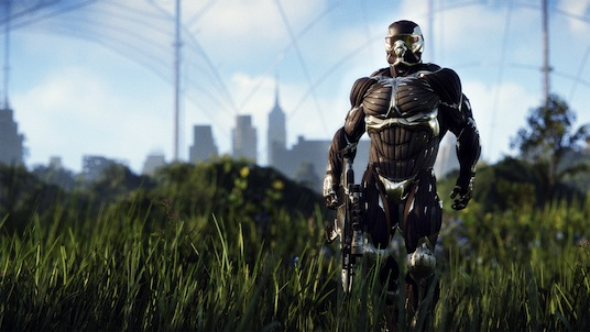 Crysis 3: Full view of the nanosuit