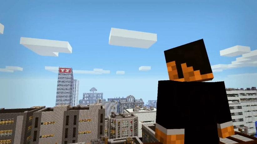 Grand Theft Minecraft city view