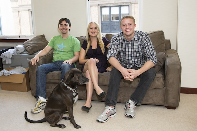 InstaEDU's twentysomething founders Alison Johnston Rue, Dan Johnston, and Joey Shurtleff