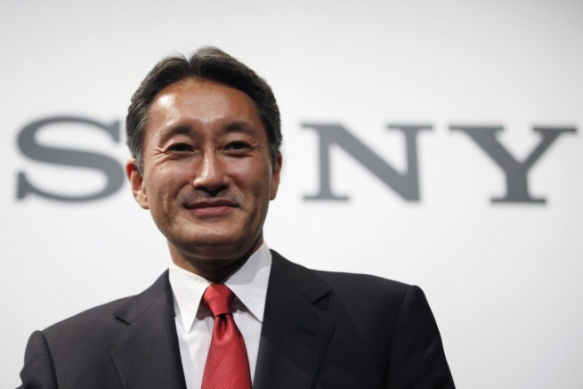 File photo of Sony Corp's Chief Executive Officer Hirai attends a news conference at the company's headquarters in Tokyo
