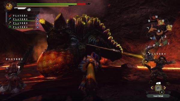Monster Hunter 3 Ultimate: Volcano fight (Wii U)