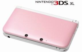 Nintendo 3DS XL pink white