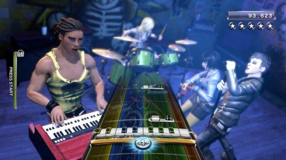 Rock Band 3 screen