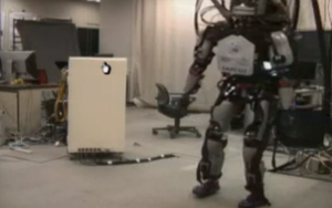 And the robot walks!