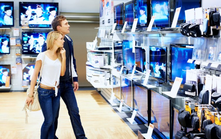 showrooming electronics retail store