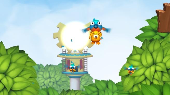 Toki Tori 2: snatched by a bird