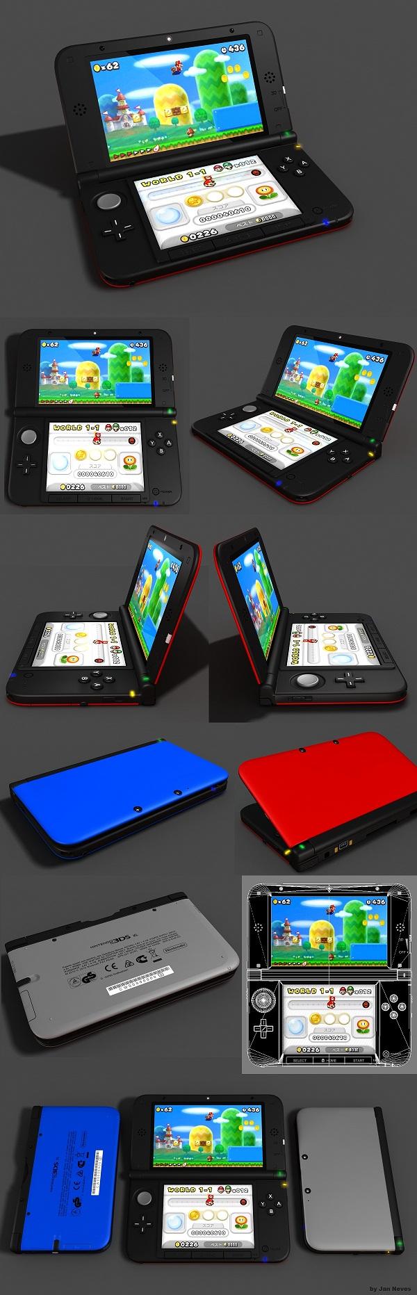 Nintendo 3DS 3D model by Jan