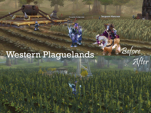 Western Plaguelands Before/After