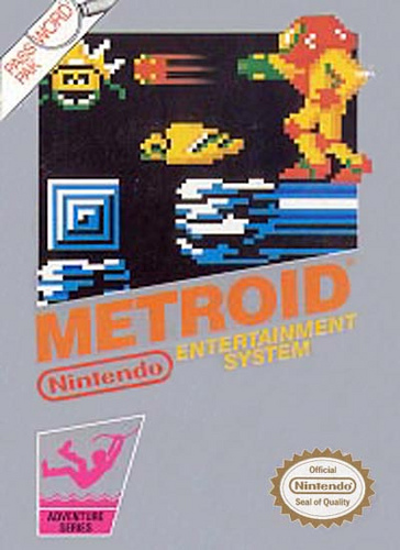Cover of the NES game Metroid