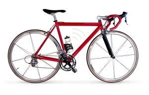 red racing bike