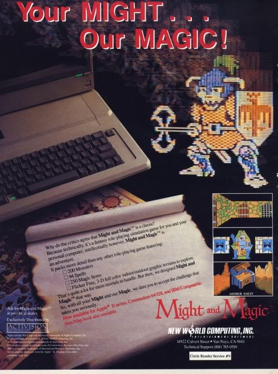 Might and Magic ad (Activision)