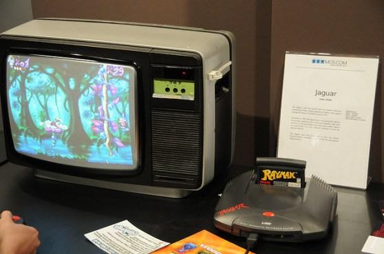 Atari Jaguar with TV screen