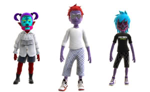 Xbox Live Avatars: The Purple People