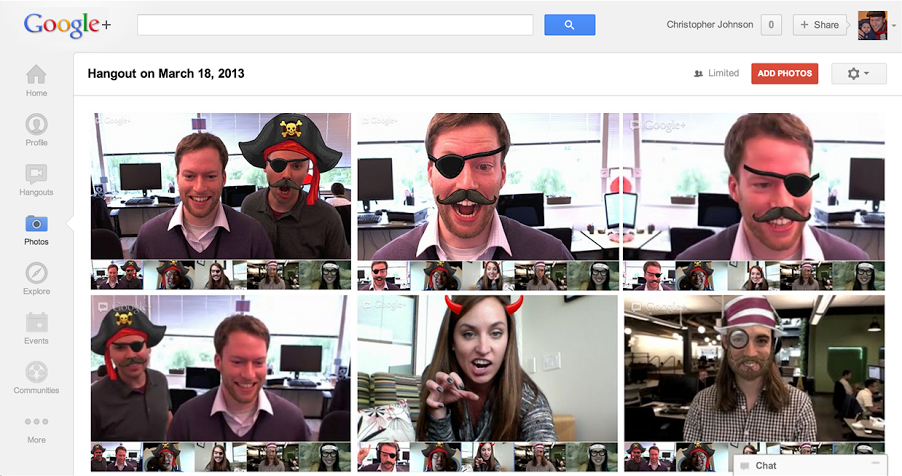 Google+ gets camera app to take quick pics of your Hangouts