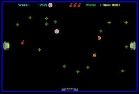 Screenshot from original version of Crystal Quest