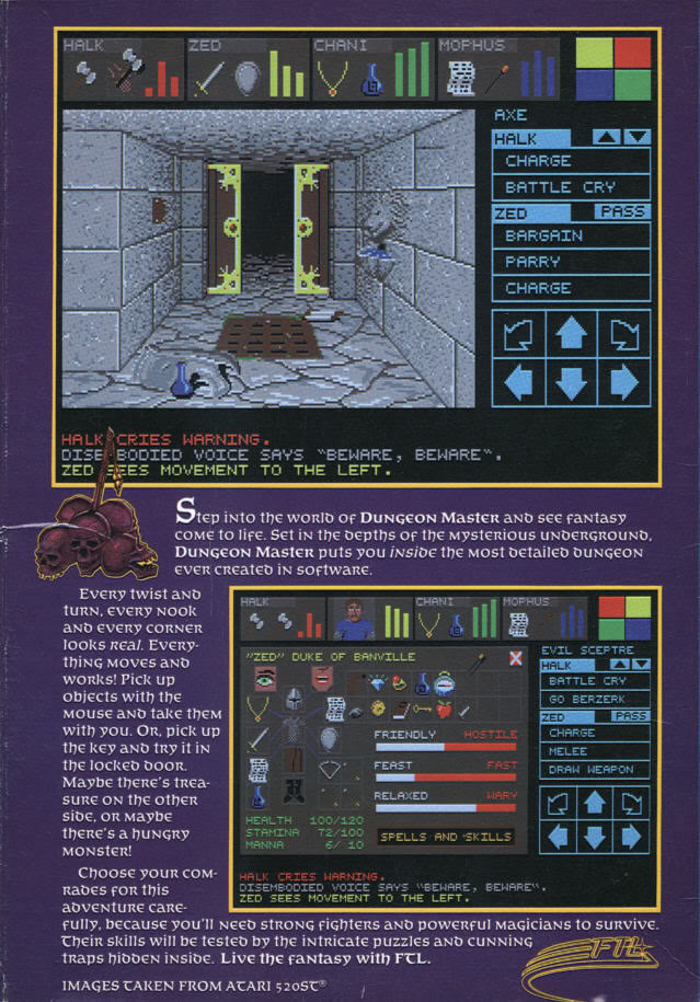Dungeon Master box back