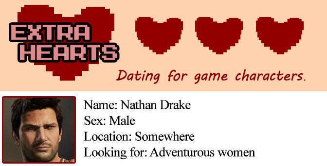 Extra Hearts: Nathan Drake profile