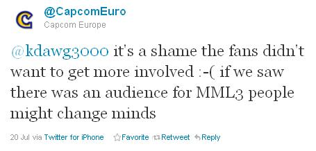 Capcom Europe MML3 Tweet