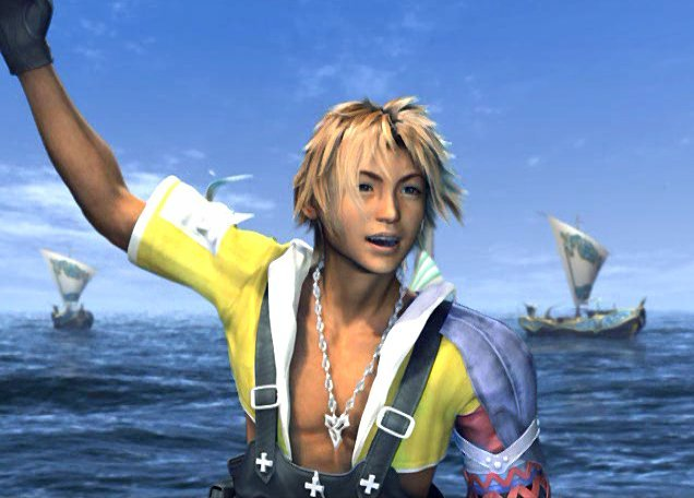 Tidus from Final Fantasy X.