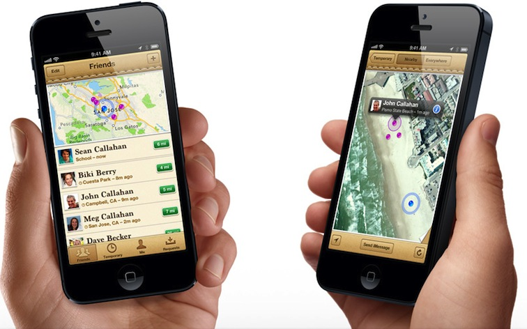 FindMyFriends Apple app