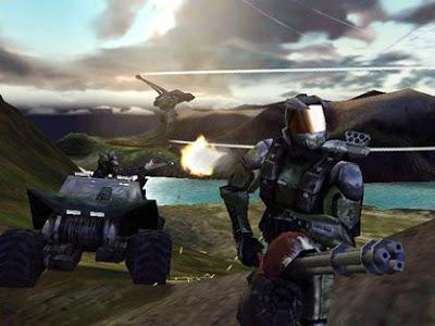 Screenshot from MacWorld 1999 presentation of Halo