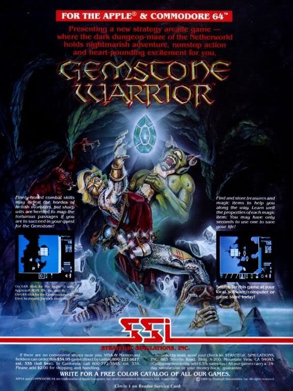 Gemstone Warrior ad